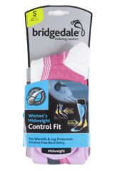Ladies 1 Pair Bridgedale Midweight Control Fit Winter Sports Socks Product Shot