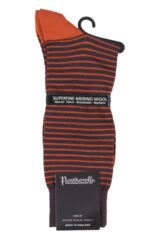 Mens 1 Pair Pantherella Modern Collection Stockwell Striped Merino Wool Socks Product Shot