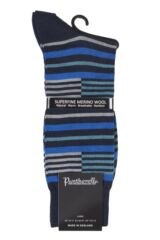 Mens 1 Pair Pantherella Modern Collection Brixton Banded Stripe Socks Product Shot