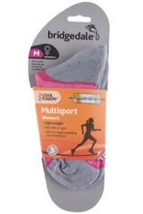 Ladies 1 Pair Bridgedale Multisport Cushioned Merino Wool Socks Packaging Image