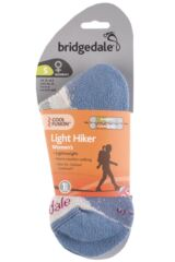 Ladies 1 Pair Bridgedale Active Light Hiker Cotton and Coolmax Socks For Summer Hiking Packaging Image