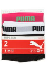 Ladies 2 Pair Puma Basic Hipsters Packaging Image