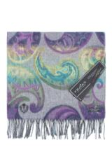 Fraas Cashmink Bright Paisley Scarf Leading Image