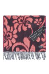 Fraas Cashmink Bright Floral Vine Scarf Packaging Image