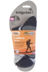 Ladies 1 Pair Bridgedale X-Hale Trailblaze Socks With Impact And Protective Padding Product Shot
