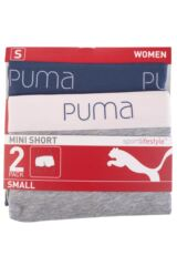 Ladies 2 Pair Puma Basic Mini Shorts Packaging Image