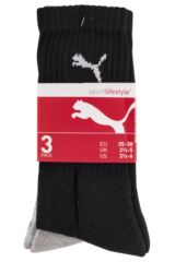 Mens and Ladies 3 Pair Puma Sports Socks Product Shot