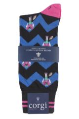 Mens 1 Pair Corgi Lightweight Cotton American Football Socks Packaging Image