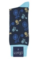 Mens 1 Pair Corgi Lightweight Cotton Penny Farthing Socks Product Shot