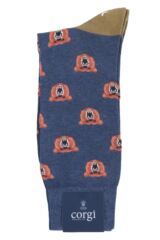 Mens 1 Pair Corgi Angry Bear Lightweight Cotton Socks Packaging Image