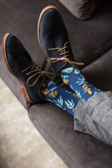 Mens 1 Pair Pantherella Tange Tropical Floral Cotton Socks Leading Image