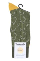Mens 1 Pair Pantherella Takenoko Bamboo Design Cotton Socks Packaging Image