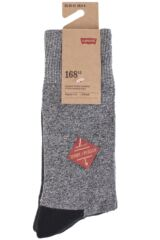 Mens 2 Pair Levis 168LS Plain Cushioned Crew Socks Packaging Image