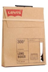 Mens 1 Pack Levis Levi Strauss Heritage Original Long Boxer Shorts In White Packaging Image