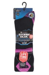 Ladies 1 Pair Storm Bloc with BlueGuard Equestrian Long Cotton Socks Packaging Image