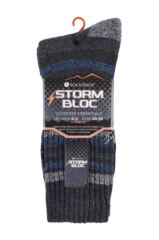 Mens 4 Pair Storm Bloc Ribbed Performance Boot Socks Packaging Image