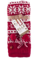 Ladies 1 Pair Elle Stripe Fairisle Home Knit Bootie Packaging Image