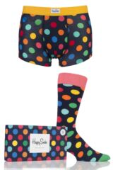 Mens Happy Socks Big Dots Socks and Boxer Shorts Gift Box