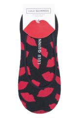 Ladies 2 Pair Lulu Guinness Cotton Ped Socks Packaging Image