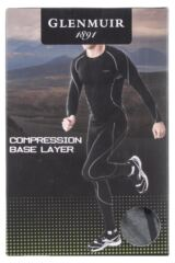 Mens 1 Pack Glenmuir Long Sleeved High Neck Compression Base Layer T-Shirt Product Shot