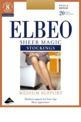 Ladies 1 Pair Elbeo Sheer Magic Medium Support Stockings Product Shot