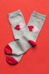 Ladies 3 Pair Lulu Guinness Hearts Cotton Socks Leading Image