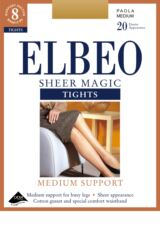 Ladies 1 Pair Elbeo Sheer Magic Medium Support XL Tights Product Shot