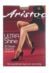 Ladies 1 Pair Aristoc 10 Denier Ultra Shine Tights with Silk Finish Packaging Image