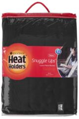 SOCKSHOP Heat Holders Snuggle Up Thermal Blanket In Black Packaging Image