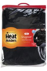 Ladies SockShop Heat Holders Snugover Fleece Jumper In Black Packaging Image