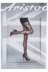 Ladies 1 Pair Aristoc All Over Floral Swirl Lace Design Tights Product Shot