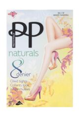 Ladies 1 Pair Pretty Polly Naturals 8 Denier Sun Oil Sheen Tights Packaging Image