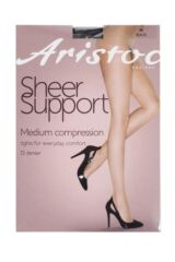 Ladies 1 Pair Aristoc Medium Compression Support Sheer Tights Packaging Image