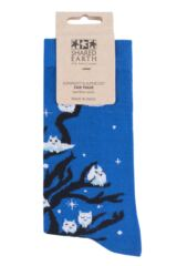 Mens and Ladies 1 Pair Shared Earth Fair Trade Bamboo Owls Socks Packaging Image