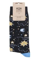 Mens and Ladies 1 Pair Shared Earth Celestial Fair Trade Bamboo Socks Packaging Image