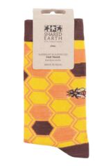 Mens and Ladies 1 Pair Shared Earth Save Our Bees Fair Trade Bamboo Socks Packaging Image