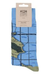 Mens and Ladies 1 Pair Shared Earth Globetrotter Fair Trade Bamboo Socks Packaging Image