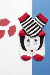 Ladies 1 Pair Lulu Guinness Doll Face Bamboo Socks Leading Image