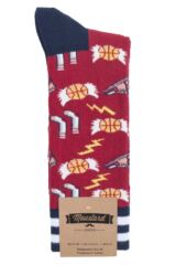 Mens 1 Pair Moustard Basketball Cotton Socks Packaging Image