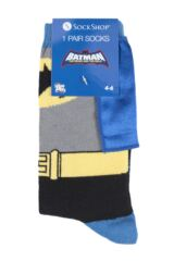 Boys 1 Pair SockShop Batman Cape Socks Packaging Image