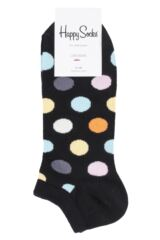 Mens and Ladies 1 Pair Happy Socks Stripes and Dots Trainer Socks Packaging Image