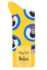 Happy Socks 1 Pair Beatles 50th Anniversary Yellow Submarine Faces Cotton Socks Packaging Image
