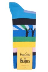 Mens and Ladies 1 Pair Happy Socks The Beatles Abbey Road Crossing 2019 Cotton Socks Packaging Image