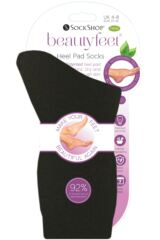 Ladies and Mens 1 Pair Beautyfeet by SOCKSHOP Nourishing Heel Pad Socks Packaging Image