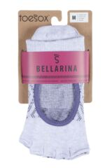 Ladies 1 Pair ToeSox Bellarina Open Front Half Toe Diamond Socks Packaging Image