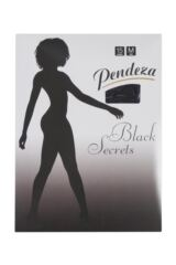 Ladies 1 Pair Pendeza Black Secrets Opaque Tights For Darker Skin Tones Packaging Image