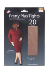 Ladies 1 Pair Pretty Legs Xceptionelle Plus Size Lycra Tights Packaging Image