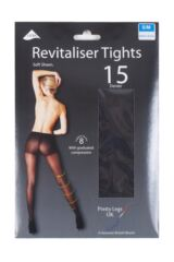 Ladies 1 Pair Pretty Legs 15 Denier Revitaliser Soft Shine Compression Tights Packaging Image