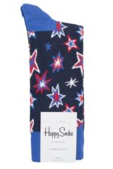 Mens and Ladies 1 Pair Happy Socks Bang Bang Combed Cotton Socks Packaging Image