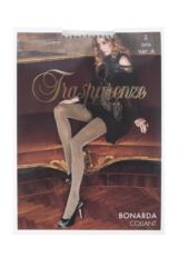 Ladies 1 Pair Trasparenze Bonarda Ribbed Glitter Shine Opaque Tights Packaging Image